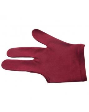 Rękawiczka bilardowa standard 3-palce bordo
