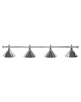 Lampa bilardowa ELEGANCE 4-klosze srebrna