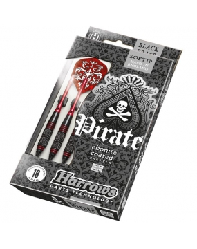 HARROWS rzutka dart PIRATE - Czerwone 16gr
