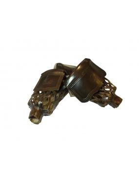 Leather Pockets BISON brown 6pcs
