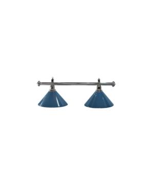 Lampa bilardowa ELEGANCE 2-klosze niebieskie, sreb
