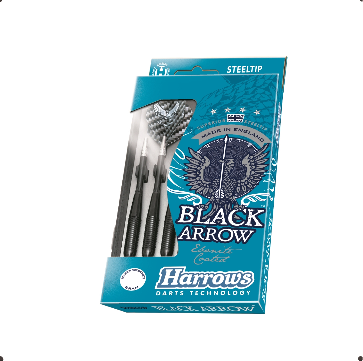 HARROWS rzutka dart BLACK ARROW steeltip 22gR