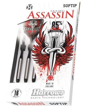 HARROWS rzutka dart ASSASSIN 85% softip 16gK