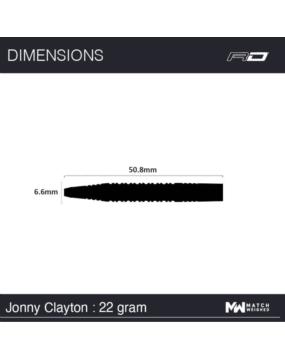 RED DRAGON rzutka dart JONNY CLAYTON 22g
