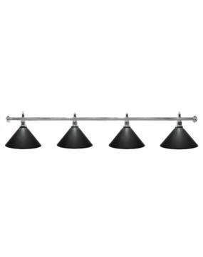 Lampa bilardowa ELEGANCE 4-klosze czarna