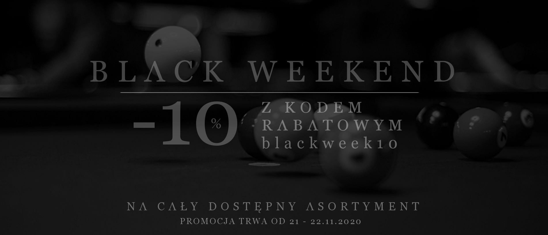 Black Weekend w bilardsklep.pl !